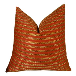 Plutus Tied Rows Handmade Double Sided Throw Pillow