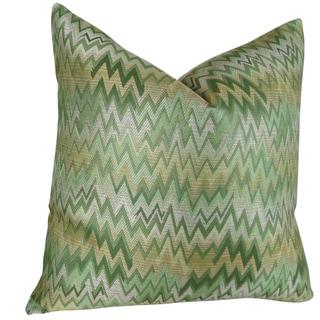 Plutus ZigZag Chevron Peek Leaf Handmade Double-sided Throw Pillow