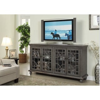 Treasure Trove Accents Joplin Texture Grey Four Door Media Credenza