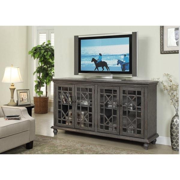 Treasure Trove Accents Transitional Joplin Grey TV Console