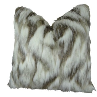 Plutus Tibet Faux Fox Handmade Double Sided Throw Pillow