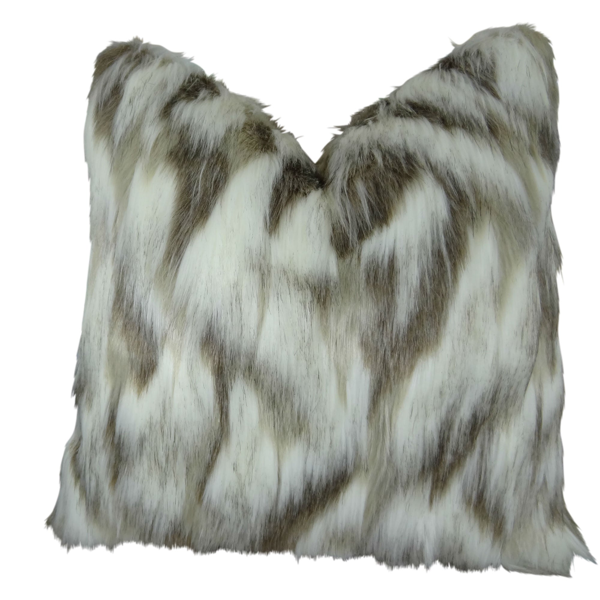 Shop Black Friday Deals On Plutus Tibet Faux Fox Handmade Double Sided Throw Pillow Overstock 10462175
