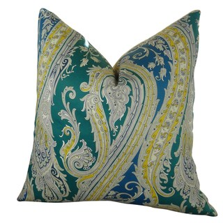 Plutus Fun Paisley Handmade Double Sided Throw Pillow