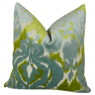 Plutus Luxury Multicolor Velvet Bliss Water Handmade Throw Pillow