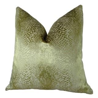 Plutus Hidden World Gold Handmade Throw Pillow