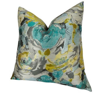 Plutus Floral Turquoise Truro Handmade Throw Pillow