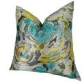 Plutus Floral Turquoise Truro Handmade Throw Pillow