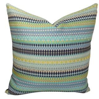 Plutus Alpenglow Turquoise Handmade Throw Pillow