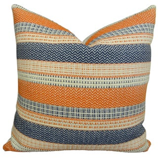Plutus Full Range Designer Stripe Multicolor Handmade Throw Pillow