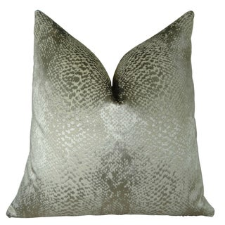 Plutus Hidden World Silver Handmade Double Sided Throw Pillow