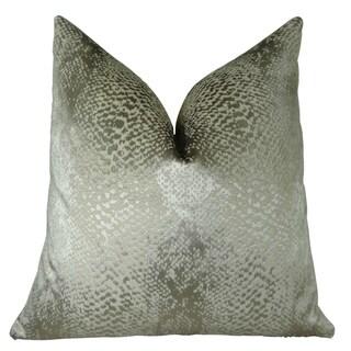 Plutus Hidden World Silver Handmade Double Sided Throw Pillow