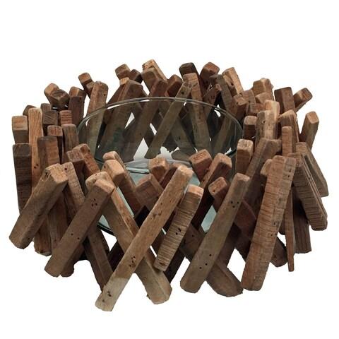 Driftwood Acacia Stick Bowl Natural