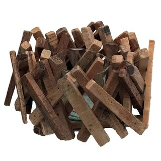 Driftwood Acacia Stick Tealight Nat
