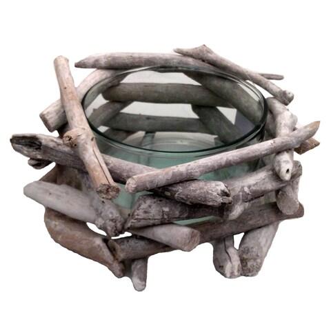 Driftwood Network Bowl White Wash