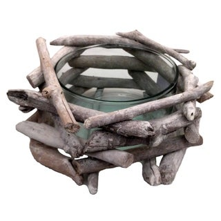 Driftwood Network Bowl White Wash