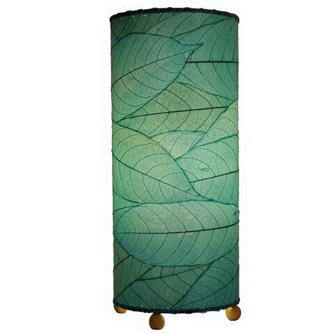 Handmade Cocoa Leaf Cylinder Lamp