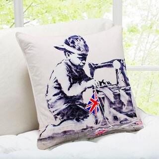 'Labour' London Banksy Art Throw Pillow