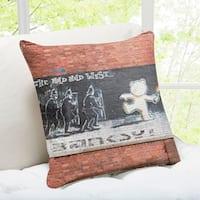 'The Mild Mild West' Bristol Banksy Art Throw Pillow