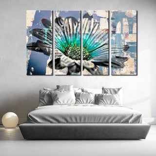Ready2HangArt 'Painted Petals XCIV' 4-piece Canvas Art Set