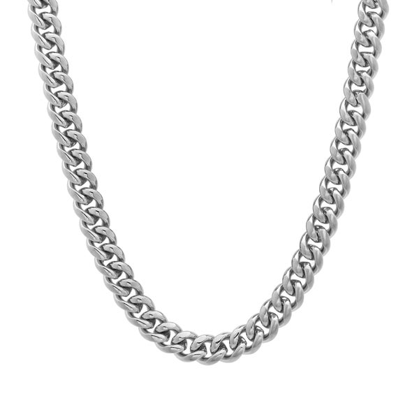 Sterling Essentials Silver 16-inch Miami Cuban Link Chain (5mm)
