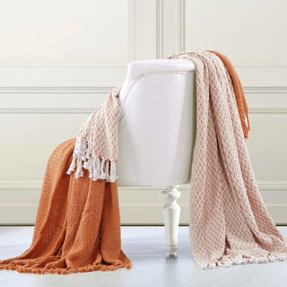 Amrapur Overseas 100-percent Cotton Mosaic Throws (Set of 2) (2 options available)