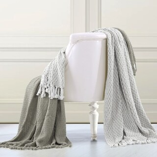 Amrapur Overseas 100-percent Cotton Mosaic Throws (Set of 2) (3 options available)