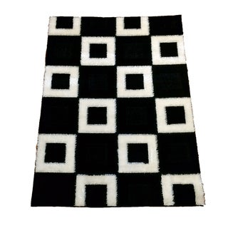 Lyke Home Rya Extra Plush 1004 Black Area Rug (7'10 x 10'2)