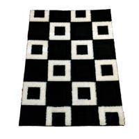 LYKE Home Rya Extra Plush 1004 Black Area Rug - 7'10 x 10'2