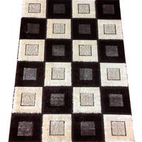 LYKE Home Rya Extra Plush 1004 Brown Area Rug - 7'10 x 10'2