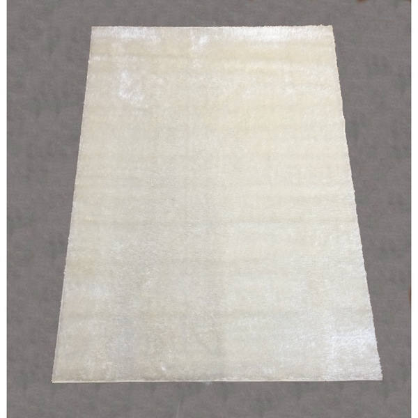 LYKE Home Rya Extra Plush 0001 White Area Rug - 7'10 x 10'2