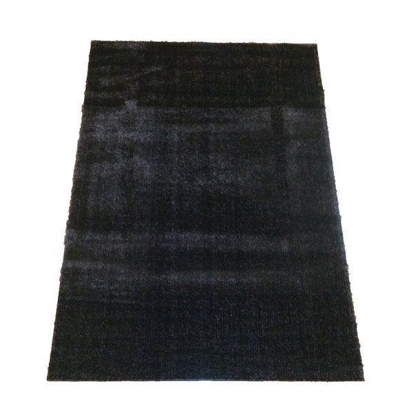 LYKE Home Rya Extra Plush 0003 Dark Brown Area Rug - 7'10 x 10'2