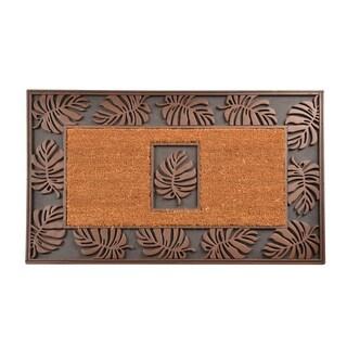 HomeTrax Designs Leaf Cocoa Mat (22-inch x 36-inch)