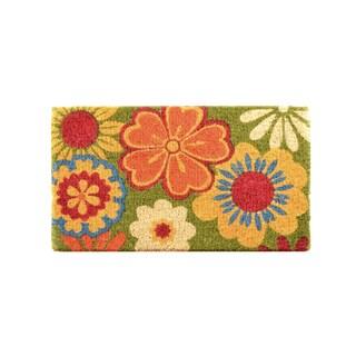 HomeTrax Summer Flower Coir Mat (18-inch x 30-inch)