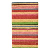 HomeTrax Designs Stripes Coir Mat (18-inch x 30-inch)
