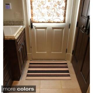 HomeTrax Designs Textura Stripe Door Mat (3' x 4')
