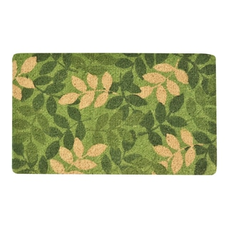 HomeTrax Green Leaf Coir Mat (18-inch x 30-inch)