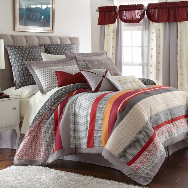 Shop amraupur overseas tangiers 24 piece bedding and - Bedroom comforter and curtain sets ...