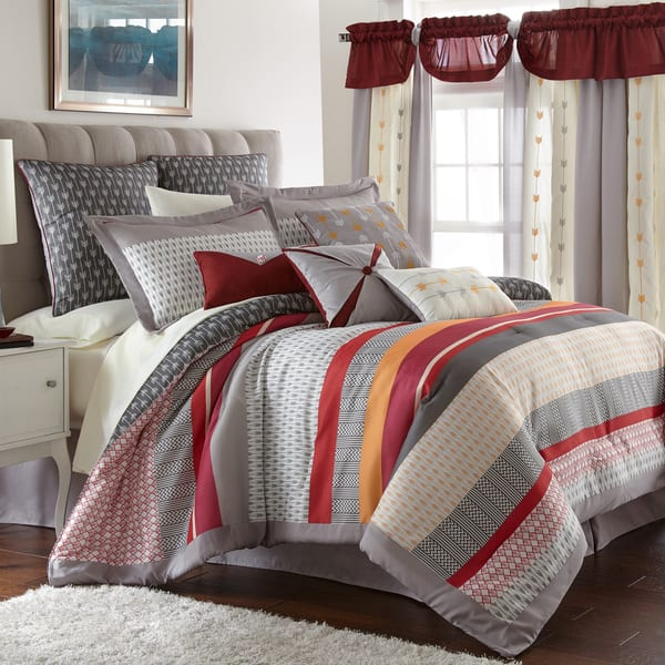Shop Amraupur Overseas Tangiers 24-piece Bedding and Curtain ...
