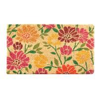HomeTrax Designs Spring Daisies Coir Mat (18-inch x 30-inch)