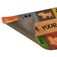 HomeTrax Wipe Your Paws Vinyl-Backed Mat (18-inch x 30-inch)