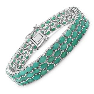 Malaika Sterling Silver 27 1/4ct Emerald Bracelet