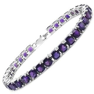 Olivia Leone Sterling Silver 18 1/6ct Amethyst Bracelet