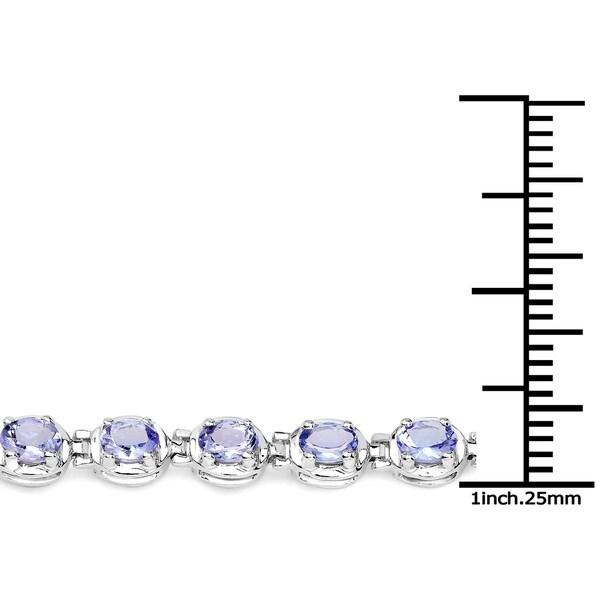 Olivia Leone Sterling Silver 4 3/5ct Tanzanite Bracelet
