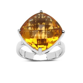 Olivia Leone Sterling Silver 9ct Citrine Ring