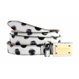 Dolce & Gabbana Women's Leather Polka Dot Belt