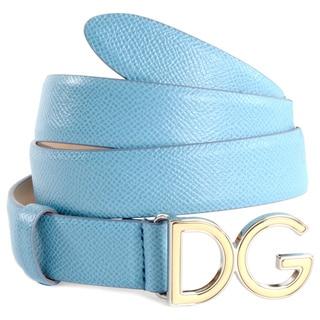 Dolce & Gabbana Women's Blue DG Logo Belt