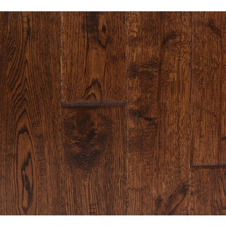 The Somette Haslett Oak Series Rural Brown Solid Hardwood Flooring (22.60 Sq Ft)