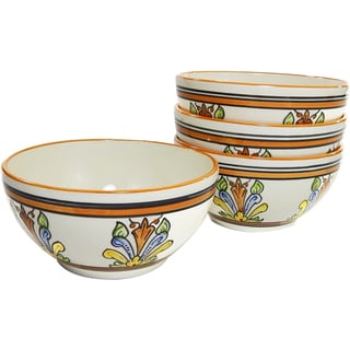 Le Souk Ceramique Salvena Design Soup/ Cereal Bowls (Set of 4)