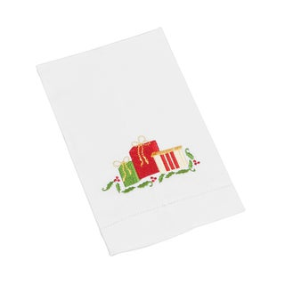 Hemstitched Gift Boxes Towel - set of 4