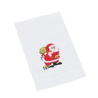 Hemstitched Santa Towel - set of 4